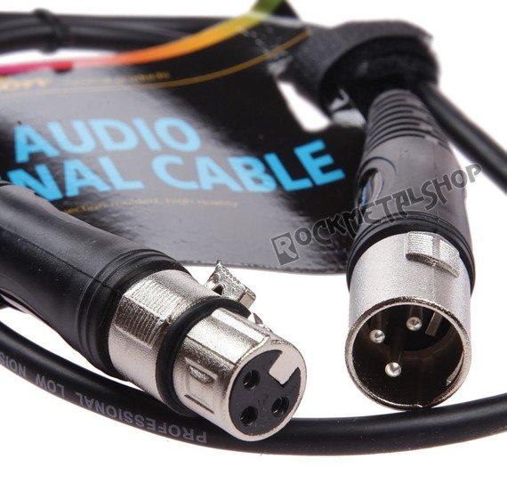 przewód mikrofonowy BOSTON: XLR męski - XLR damski / 6m