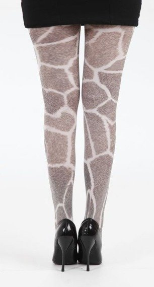 rajstopy Furry Giraffe Printed Tights - Multicoloured