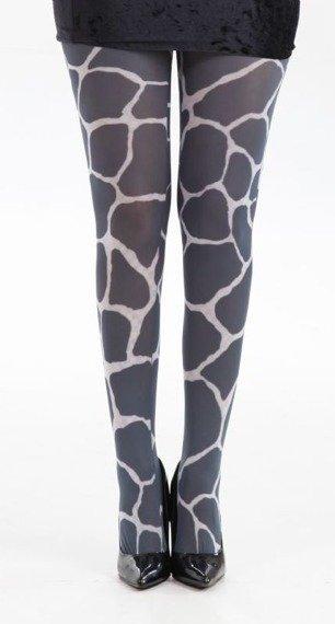 rajstopy Grand Giraffe Printed Tights - Black