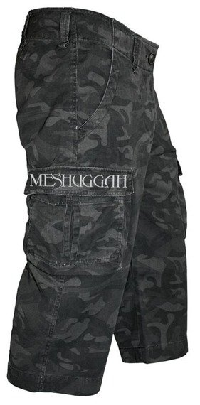 spodenki 3/4 MESHUGGAH - BLACK CAMOUFLAGE SHORTS