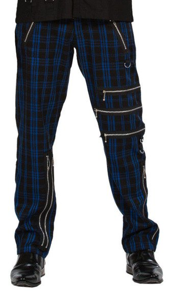 spodnie DEAD THREADS - BLUE TARTAN