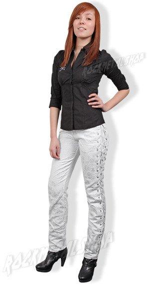 spodnie białe EYELETT JEANS BROKAT (A-1-24-040-01)