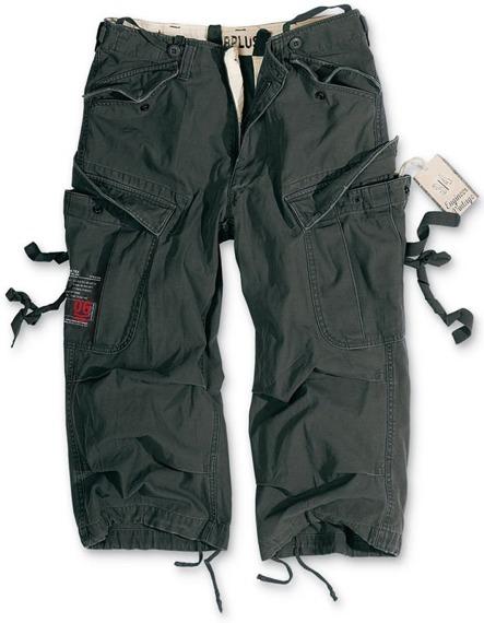 spodnie bojówki krótkie 3/4 ENGINEER VINTAGE BLACK