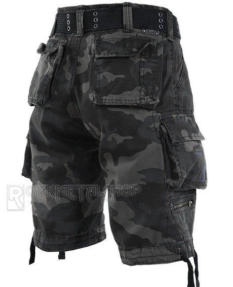 spodnie bojówki krótkie SAVAGE VINTAGE SHORTS - DARKCAMO