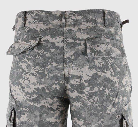 spodnie bojówki krótkie US BERMUDA RIP-STOP COTTON PREWASH AT-DIGITAL