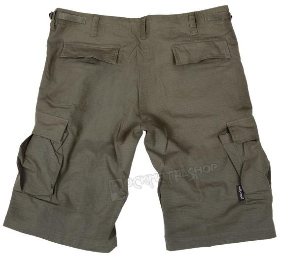 spodnie bojówki krótkie US BERMUDA RIP-STOP COTTON PREWASH OLIVE