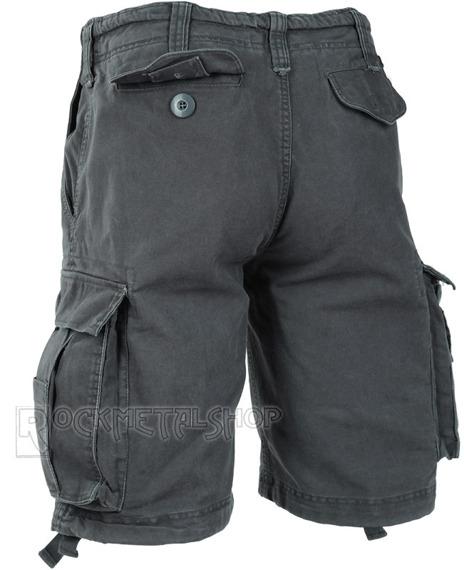 spodnie bojówki krótkie VINTAGE SHORTS - ANTHRAZIT