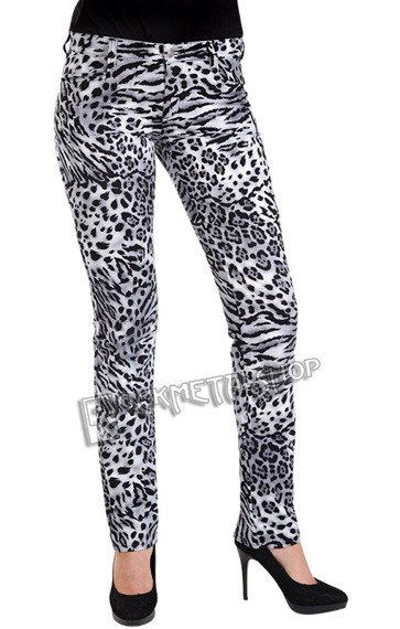 spodnie damskie CLOSE PANTS LEO black/white