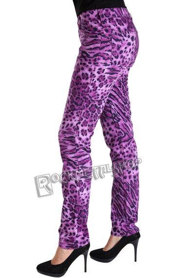 spodnie damskie CLOSE PANTS LEO purple