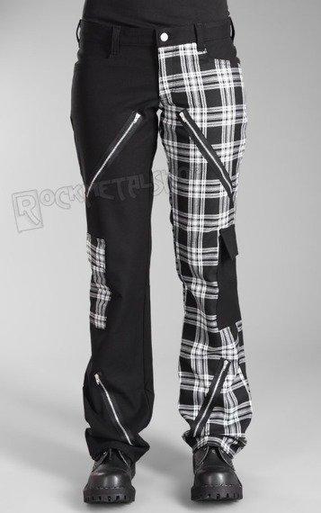 spodnie damskie FREAK PANTS TARTAN BLACK/WHITE