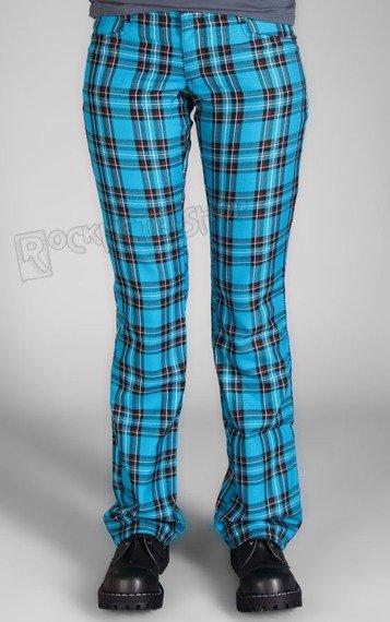 spodnie damskie HIPSTER TARTAN LIGHT BLUE