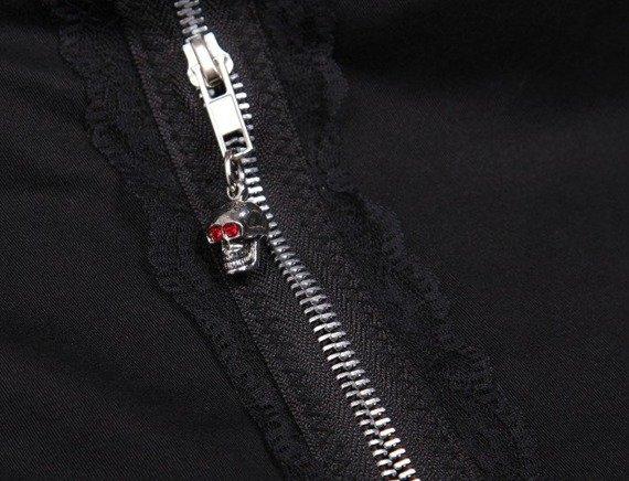 spodnie damskie LIVING DEAD SOULS - CRAZY ZIPPERS BLACK (TR313)