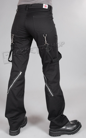 spodnie damskie PUNK PANTS DENIM BLACK
