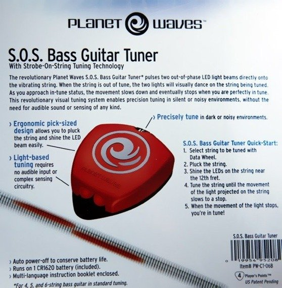 stroik gitarowy PLANET WAVES - S.O.S. PICK STYLE TUNER FOR BASS (PW-CT-06B)