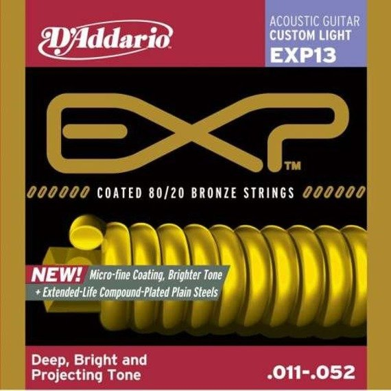 struny do gitary akustycznej D'ADDARIO BRONZE 80/20 CUS.LIGHT EXP13 /011-052/