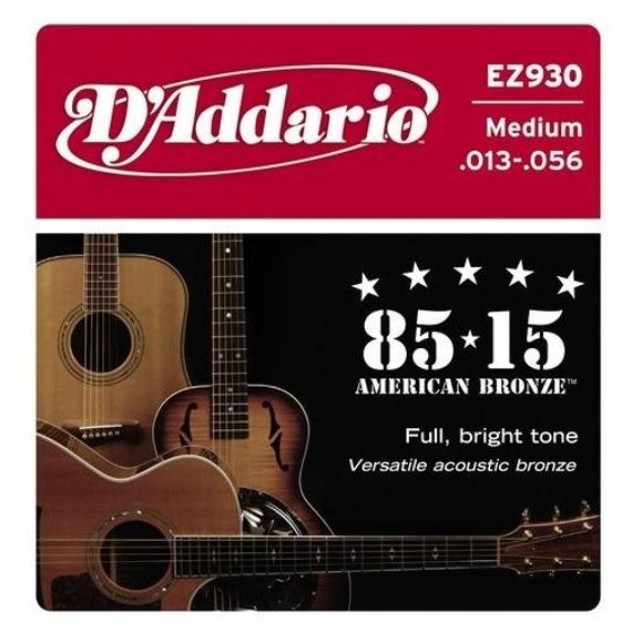 struny do gitary akustycznej D'ADDARIO EZ930 /013-056/