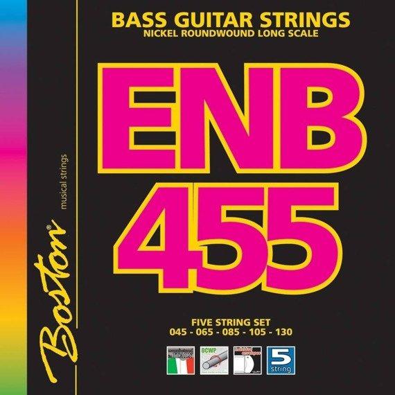 struny do gitary basowej 5str. BOSTON ENB455 / NICKEL ROUNDWOUND /045-130/