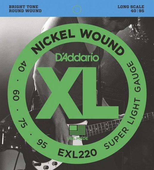 struny do gitary basowej D'ADDARIO EXL220 /040-095/
