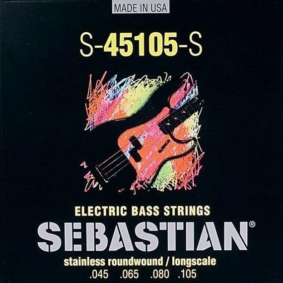 struny do gitary basowej SEBASTIAN S-45105-S STAINLES ROUNDWOUND /045-105/