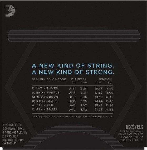 struny do gitary elektrycznej D'ADDARIO NYXL1152 Medium Top/Heavy Bottom /011-052