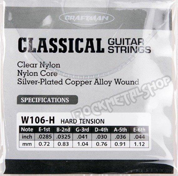 struny do gitary klasycznej CRAFTMAN SILVER-PLATED COPPER W106-H /0285-044/