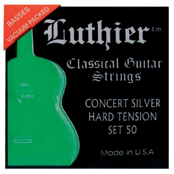 struny do gitary klasycznej LUTHIER 50 Concert Silver - Hard Tension