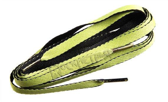 sznurowadła TUBELACES - 2-TONE BLACK/LEMON (120 cm)
