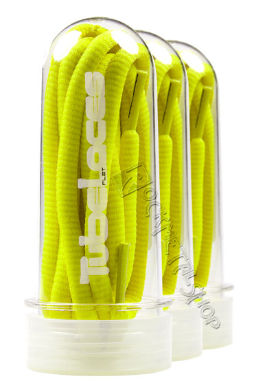 sznurowadła TUBELACES - NEON YELLOW (130 cm)