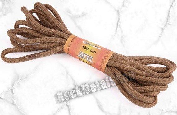 sznurowadła okrągłe JASNY BRĄZ dł. 150 cm (150)