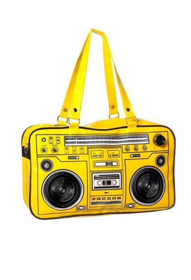 torba grająca CASSETTE PLAYER (YELLOW)