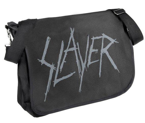 torba na ramię SLAYER - LOGO (NASZYWKA Z TYŁU)