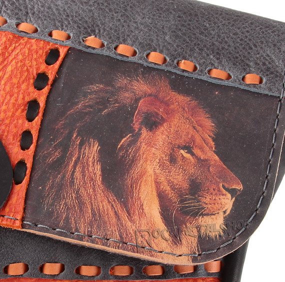 torebka skórzana mała LION