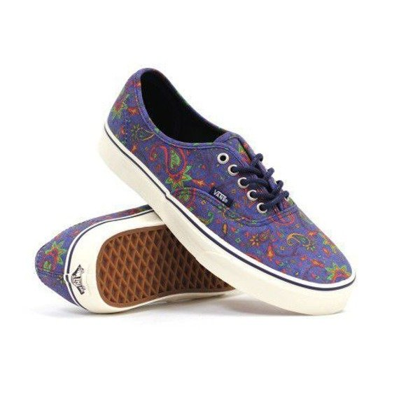 trampki VANS - AUTHENTIC PAISLEY MEDIEVAL BLUE