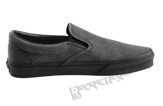 trampki VANS - CLASSIC SLIP WASHED BLACK BLACK
