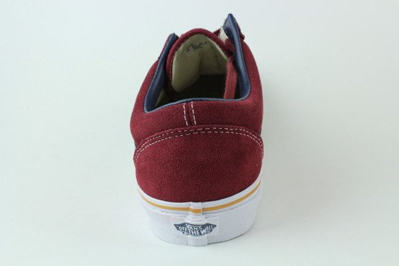 trampki VANS - OLD SKOOL SUEDE LEATHER OXBLOOD RED