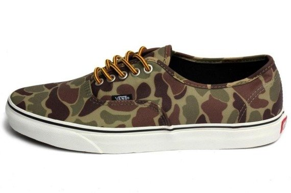 trampki damskie VANS - AUTHENTIC WAXED CANVAS CAMO MARSH
