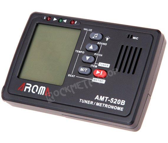 """tuner + metronom """"2w1"""" AROMA AMT-520B + klips"""