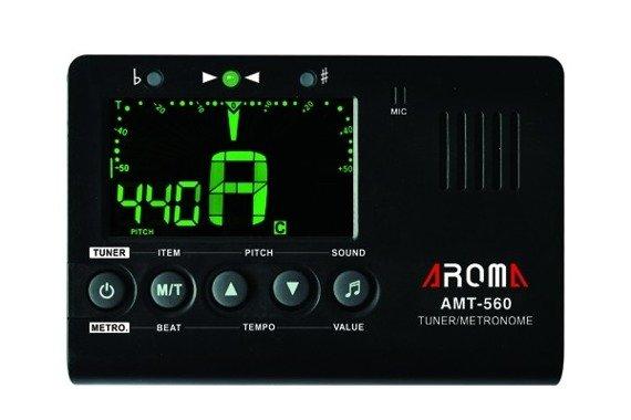 """tuner / stroik, metronom, gen. tonów """"3w1"""" AROMA AMT-560"""