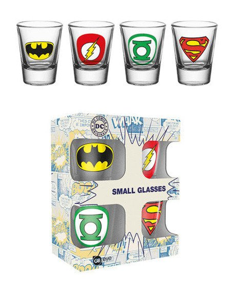 zestaw kieliszków DC COMICS - LOGOS