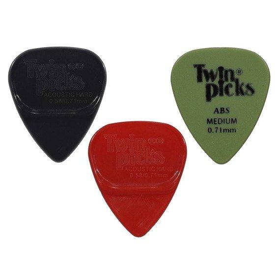 zestaw kostek TWIN PICKS ACOUSTIC HARD - Duo Pack + ABS