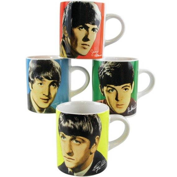 zestaw kubków THE BEATLES - FOUR COLORS mini espresso 100 ml