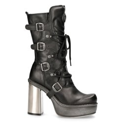 buty damskie NEW ROCK - M.9973-S11 NOMADA NEGRO PL NEW CIRCLE TACON ACERO