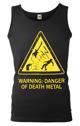 koszulka na ramiączkach WARNING: DANGER OF DEATH METAL
